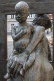 Статуя в центре Стоковое Изображение RF