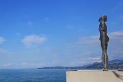 Статуя влюбленности Али и Nino Стоковая Фотография