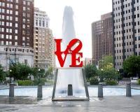Статуя влюбленности Филадельфии Стоковое Фото