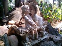 Статуя влюбленности стоковое изображение rf