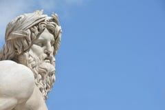Статуя Ганга реки как греческий бог (с космосом экземпляра) Стоковая Фотография RF