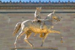 Статуя генерала Anthony Wayne на музее изобразительных искусств Филадельфии Стоковые Фотографии RF