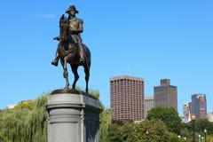 Статуя Георге Шасюингтон в парке общего Бостон Стоковая Фотография RF