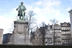 статуя героя brussels Стоковое Изображение