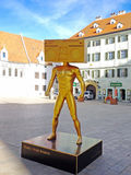 Статуя головы радио Стоковое фото RF