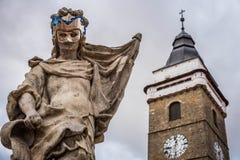 Статуя гранита девой марии Стоковое Изображение RF