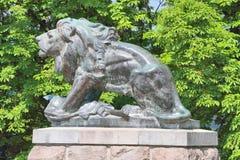 Статуя Грац льва Hackher, Австрия Стоковое Фото