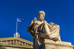 Статуя греческого философа Платона стоковое изображение rf