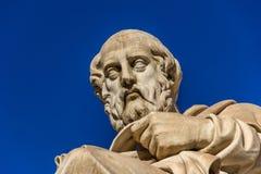Статуя греческого философа Платона стоковые изображения rf
