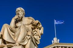 Статуя греческого Socrates философа стоковое изображение rf