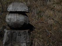 Статуя гриба с номером стоковые фотографии rf