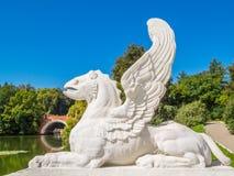 Статуя грифона Существования грифонов ismythological, который подогнали Стоковые Изображения RF