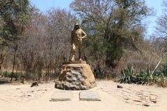 Статуя Давид Ливингстон в национальном парке Victoria Falls, Зимбабве стоковые фото