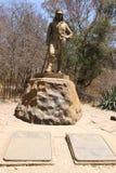 Статуя Давид Ливингстон в национальном парке Victoria Falls, Зимбабве стоковое изображение