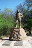 Статуя Давид Ливингстон, национального парка Victoria Falls, Zimba стоковое изображение rf