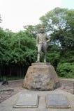 Статуя Давид Ливингстон - Victoria Falls - Замбия стоковые фотографии rf