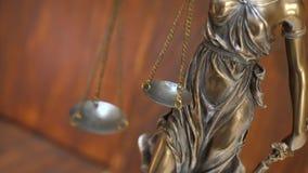 Статуя дамы Правосудия видеоматериал