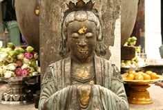 статуя дворца bangkoks буддийская грандиозная Стоковая Фотография RF