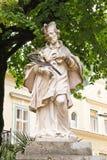 Статуя Джона Nepomuk в плохом Ischl, Австрии Стоковое Изображение
