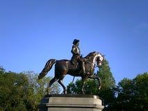 Статуя Джорджа Вашингтона, сквер Бостона, Бостон, Массачусетс, США Стоковое фото RF