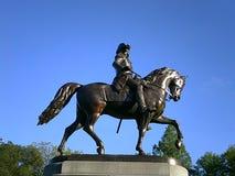 Статуя Джорджа Вашингтона, сквер Бостона, Бостон, Массачусетс, США Стоковые Фотографии RF