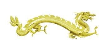 статуя дракона золотистая изолированная стоковые фотографии rf