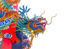 Статуя дракона на штендере стоковое фото rf