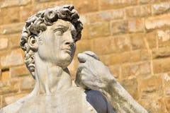 Статуя Дэвида Микеланджело Bunarroti на della Signorria аркады в Флоренсе, Италии Стоковое Изображение RF