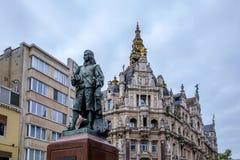 Статуя Дэвида Teniers молодой Стоковые Фотографии RF