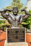 Статуя Д-р Datuk Wira Кострика Leong Gan, отец занимается культуризмом Стоковая Фотография RF