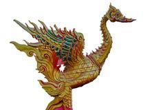 Статуя лебедя золота Стоковые Изображения RF