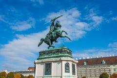 Статуя ерц-герцога Charles Стоковое Изображение RF