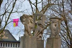 Статуя женщины дерева, части fontaine Стоковое Изображение RF