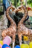 Статуя жирафа Стоковые Фотографии RF