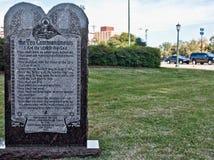 Статуя 10 заповедей на здании капитолия положения Техаса в Austi Стоковое Изображение RF