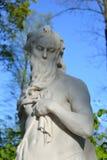 Статуя захода солнца иносказания Стоковые Изображения RF