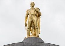 Статуя золота пионерская на здании капитолия положения Орегона стоковое фото rf