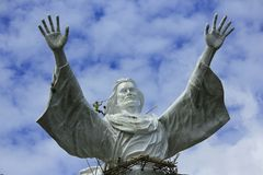 Статуя Иисуса благословляет Стоковое Изображение
