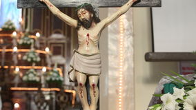 Статуя Иисуса Христоса сток-видео