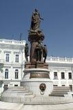 Статуя императрицы Екатерины Великой в Одессе стоковое изображение rf