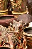 статуя индийского nandi священнейшая Стоковое Изображение