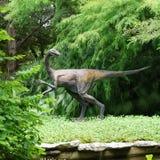 Статуя динозавра в саде Zilker ботаническом в Остине Техасе стоковые фотографии rf
