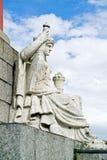 Статуя иносказания реки Neva на rostral столбце. 1810 Стоковые Фотографии RF