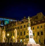 Статуя и квадрат Дубровник Стоковое Фото