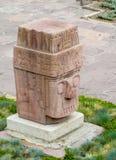 Статуя идола от Tiwanaku в Ла Paz, Боливии Стоковое фото RF