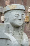 Статуя идола от Tiwanaku в Ла Paz, Боливии Стоковое Изображение RF