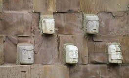 Статуя идола от Tiwanaku Стоковые Фото