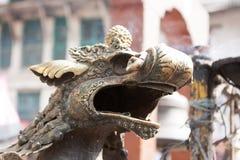 Статуя и украшения висков в квадрате Durbar, Kathmand Стоковые Изображения