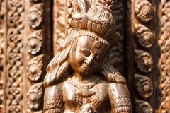 Статуя и украшения висков в квадрате Durbar, Kathmand Стоковое Изображение RF