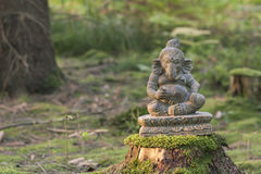 Статуя камня божества Ganesha Стоковые Изображения RF